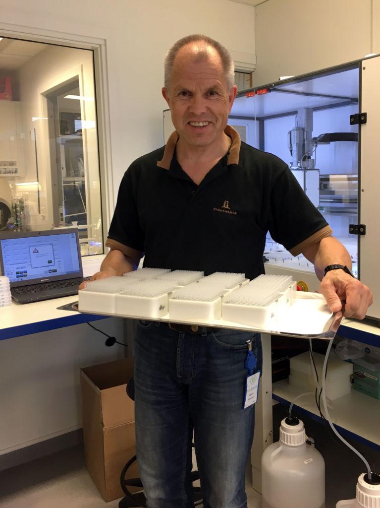 Daglig leder Sigbjørn Gregusson på laboratoriet i BioBank.